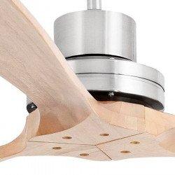 Ventilador de techo, diseño, 168 Cm. con aspas de nogal sólido, cromo, Faro, Lantau G-33504