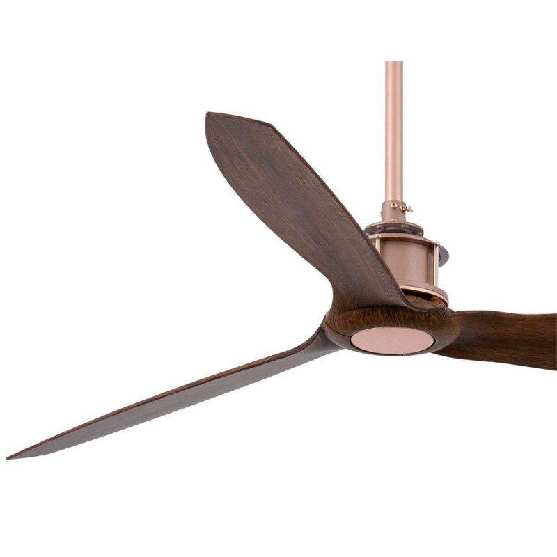 Ventilador de techo moderno y silencioso, DC 128 cm aspas de madera, motor de roble FARO JUST FAN 33399