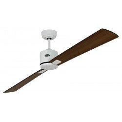 Ventilador de techo, DC, 180 Cm. modern, lacado blanco, aspas nogal, wengué, control remoto CASAFAN Eco II Neo WE