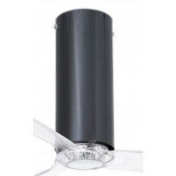 Ventilador de techo diseño DC 128 cm TUBE FAN vidrio negro brillante aspas transparentes , control remoto 32035