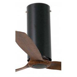 Ventilador de techo diseño DC 128 cm TUBE FAN vidrio negro brillante aspas negras , control remoto 32037