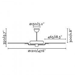 Yakarta blanco un clásico ventilador de techo para habitaciones medianas de 10 a 20 m²