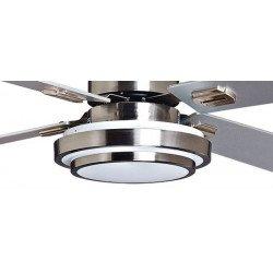Lba Home, Ventilador de techo Blizzard Bis a Design, aspas plateado / blanco, 132 cm. Con LED y control remoto.