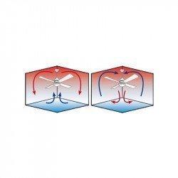 Ventilador de techo, DC, 152 Cm. Moderno basalto gris, aspas haya / arce control remoto CASAFAN Eco II Neo BG