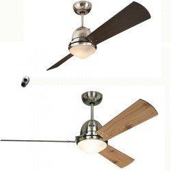 Ventilador de techo Libeccio, cuerpo blanco, solo un producto - 20 ventiladores diferentes!