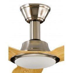 Ventilador de techo 142 Cm DC, aspas de madera, So Net, con lámpara y control remoto