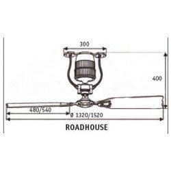 Ventilador de techo, vintage, 135 Cm estaño, aspas roble y nogal, motor DC, control remoto, Roadhouse ZN A-N CASAFAN