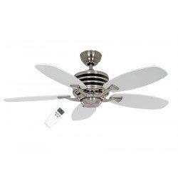 Eco Gamma ventilador de techo 137 cm Gris y blanco con mando ultra economico