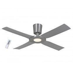 Eco disk ventilador de techo 142 cm en aluminio con LED 18 Vatios y mando incluido