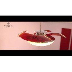 Ventilador de techo, Mela, con aspas escamoteables, 114cm, diseño, con luz, Lba Home