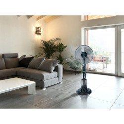 Nebulizador, 40 cm. oscilante, tanque de 3 litros, ideal para ambientes abiertos.