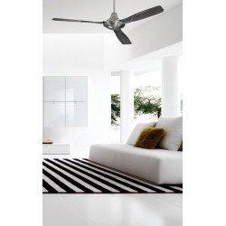 Ventilador de techo, de aluminio cromado, 142 cm. Poder y discreción, con mando a distancia