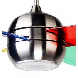 Ventilador de techo moderno de 95 cm con altavoz bluetooth, aspas de policarbonato 4 colores