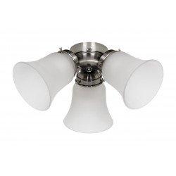 Kit de iluminación para ventilador de techo Hunter Classic, 1886, Salinas, Sevilla II, Savoy, versión Carrera BN