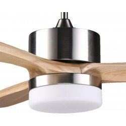 Ventilador de techo con motor DC y con аspas de madera maciza 132 cm, luminaria 18W LED,  ARIME LIGHT de KlassFan