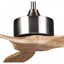 ARIME Ventilador de techo con motor DC y palas de madera maciza 132 cm, para estancias grandes, ARIME KlassFan