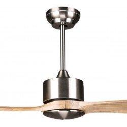 Ventilador de techo DC Motor, aspas de madera maciza 132 cm, para habitaciones grandes, ultra silencioso, Klassfan BOUSSOLE