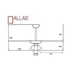 Ventilador de techo clásico con luz de 105 cm ideal para 10 a 15 m².