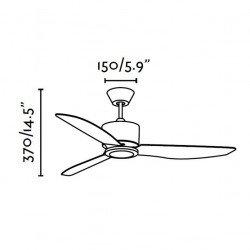Ventilador de techo, moderno, blanco 122 cm FARO sefiro 33456