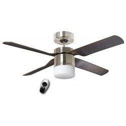 Ventilador de techo, Multimax BN, 132 Cm. moderno, con luz, control remoto, aspas wengue/gris CASAFAN