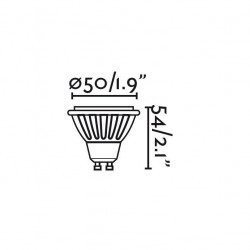 4 bombillas LED GU10 LED 5W blanco caliente 45 °
