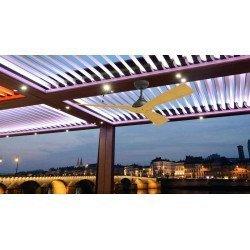 Ventilador de techo para exterior, motor de corriente continua, 132 Cm, para 30 m² ultra silencioso, IP44, WATERWIND de Klassfan