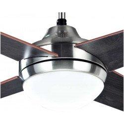 Ventilador de techo, Elysa Wenge, 112cm, aspas de doble cara haya/wenge, con luz, Lba Home