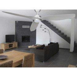 Ventilador de techo, Hackney Silver, 132 cm, moderno, niquel/plata, DC, con luz, Lba Home