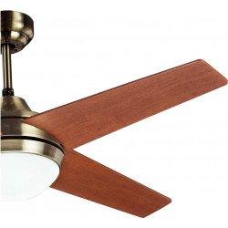 Ventilador de techo, Elysa Cerisier, 112cm, aspas de doble cara cerezo/nogal, con luz, Lba Home