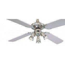 Ventilador de techo 105 cm, con lamparas orientables, aspas negro/gris