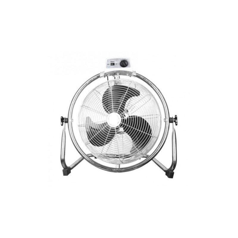 Ventilador industrial de alto rendimiento de 50 cm, 130 vatios con vástago y rotación y oscilación de 180 °.