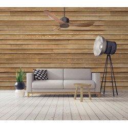 Modulo, KlassFan , Super destratificator de aire,gris basalto, aspas marrón simil madera.
