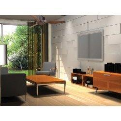 Ventilador de techo Modulo, de Klassfan, super destratificador,  gris basalto/aspas márrones, wifi y termostato