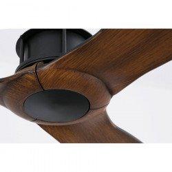 Ventilador de techo, Just Fan, 128 cm, DC, diseño, negro/madera, Faro