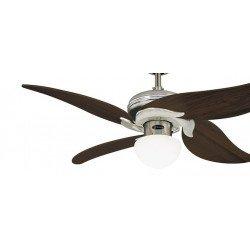 Ventilador de techo 107 cm, con lámpara, control remoto, palas de roble envejecido.