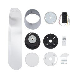Ventilador de techo, moderno, 132 cm. blanco, FARO PEMBA 33471