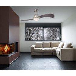 Ventilador de techo, 122 cm. con luz y mando a distancia.