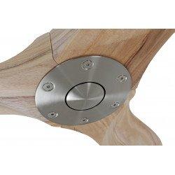 Ventilador De Techo, Diseño, 122 Cm. con aspas de arce laminadas encoladas, motor cromado cepillado, Casafan Genuino 122 Cm