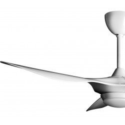 Ventilador de techo, Helix III, 132cm, DC blanco, luz de 3 tonos + dimmer, +termostato, Klass Fan