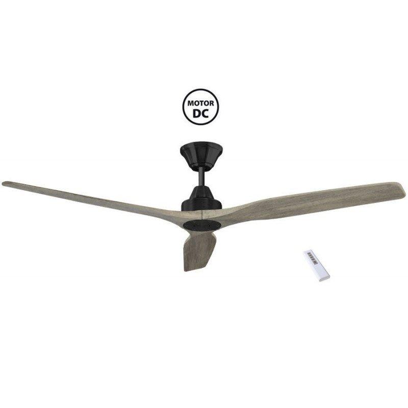 Softy KlassFan, ventilador de techo de 152 cm de CC, aspas de roble claro, ultra silencioso.