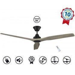 Soft KlassFan, ventilador de techo de 152 cm de CC, aspas de roble claro, ultra silencioso.