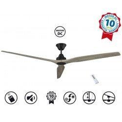 Softy de KlassFan, ventilador de techo de diseño CC 178 Cm, aspas de madera de roble,ultra silencioso.