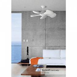 Ventilador de techo, Splash blanco con led 92 cm. El futuro de los ventiladore en tu salon.