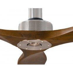Softy by KlassFan, ventilador de techo de diseño DC 178 Cm, ultra silencioso, aspas de madera de nogal.