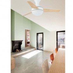 Ventilador de techo, moderno, con lámpara, 100 cm, control remoto IR, FARO MINI UFO 33454