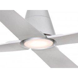 Ventilador de techo IP 44exterior color plata DC 130 cm con LED FARO Typhoon 33490
