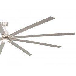 Ventilador de techo, Manhattan , 244cm, DC, niquel mate, industrial, Faro