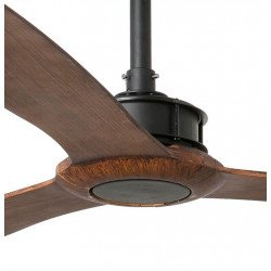Ventilador de techo, Just Fan, 178 cm, DC, diseño, negro/madera, Faro.