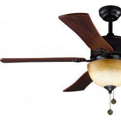 Ventilador de techo, Monte Carlo, 120cm, marrón/cerezo rústico, estilo clásico, con luz, Lba Home