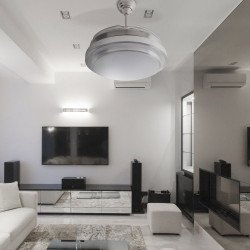 SHADOW CLASSIC Ventilador techo 107 cm. Aspas retráctiles